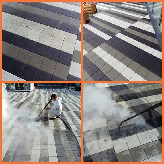 Čišćenje betona i behatona . Profesionalni i industrijski Menikini paročistači i uređaji za čišćenje, odmašćivanje i dezinfekcije suvom parom. Suva para za dezinfekciju i čišćenje u prehrambenu industriju i ugostiteljstvo.