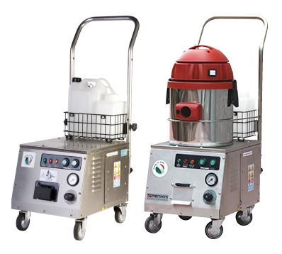 Profesionalni i industrijski Menikini paročistači i uređaji za čišćenje, odmašćivanje i dezinfekcije suvom parom. Steam Max Vacuum paročistač. Suva para za dezinfekciju i čišćenje